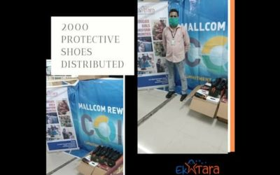 Distributed 2000 Pairs of Protective Footwear